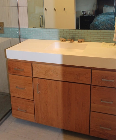 Contemporary Vanity Hidden Toekick