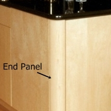 Radius End Panel Overlay