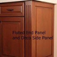fluted end panel