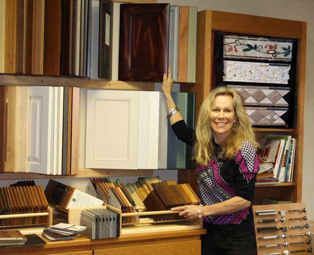 Designer Lisa Brusino in the Showroom